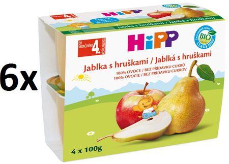 HiPP BIO Jablka s hruškami - 6x(4x100g)