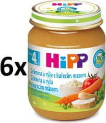 HiPP BIO Zeleninová omáčka s ryžou a kuraťom-6x125g