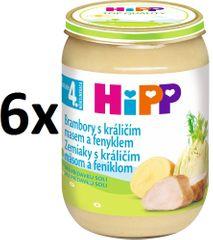 HiPP Zemiaky s králičím a feniklom - 6x190g