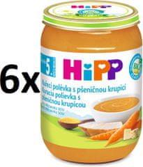 HiPP Slepačia polievka s pšeničnou krupicou - 6x190g