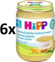 HiPP Zeleninová polievka s kuracím mäsom - 6x190g