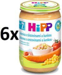 HiPP BIO Zelenina s cestovinami a šunkou - 6x220g