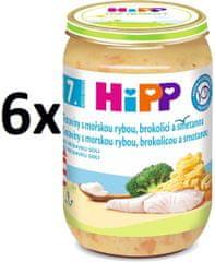 HiPP Tagliatelle s morskou rybou, brokolicou a smotanou - 6x220g