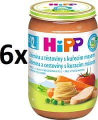 HiPP BIO Zelenina a cestoviny s kuracím mäsom - 6x220g
