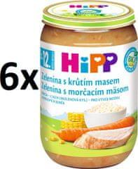 HiPP BIO Zelenina s morčacím mäsom - 6x220g