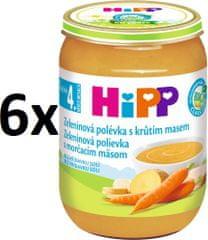 HiPP BIO Zeleninová polievka s morčacím mäsom - 6x190g