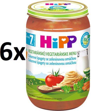 HiPP BIO Celozrnné špagety so zeleninovou omáčkou - 6x220g