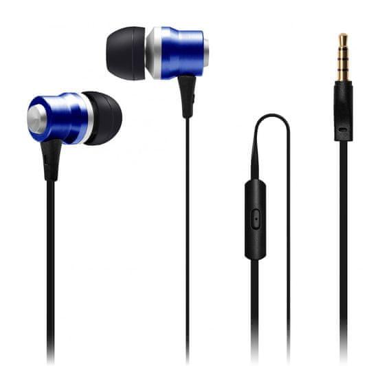 Connect IT Alu Sonics sluchátka do uší EP-224-BL, modrá (CI-1042) - zánovní