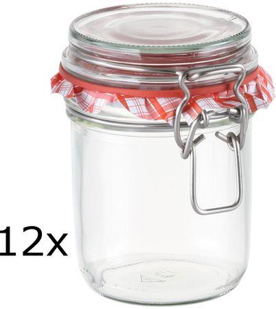 Tescoma Zaváracie poháre s klipom DELLA CASA 350 ml, 12 ks