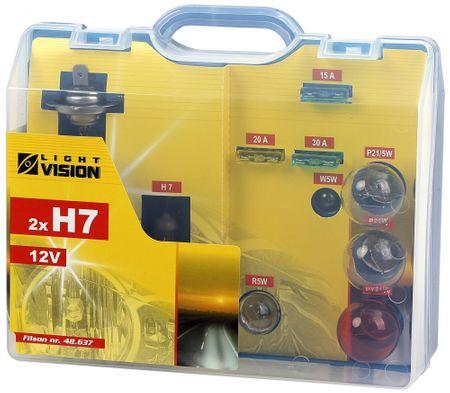 Carlson Servisní kufřík žárovek a pojistek H7