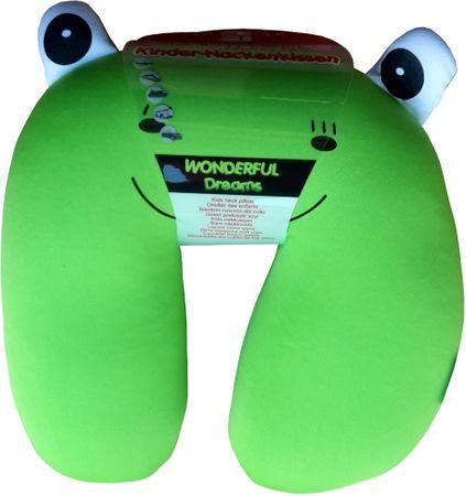 Dětský cestovní polštářek Žába