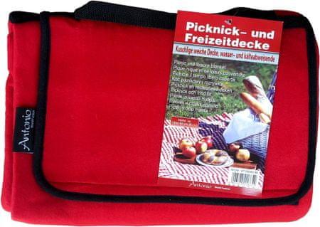 Home Antonio koc piknikowy 130x150 cm czerwony