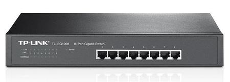 TP-Link Gigabit Desktop/Rackmount stikalo TL-SG1008 8-portno