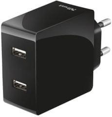 TRUST Rýchlonabíjačka (2x USB-A), čierna
