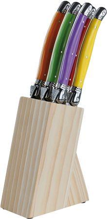 Kitchen Artist zestaw noży Laguiole L99, 6 szt. + drewniany blok