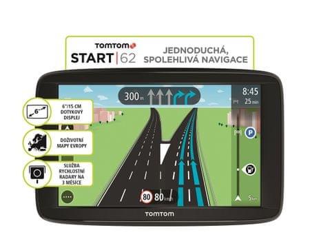 TomTom Start 62 Lifetime GPS