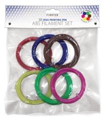 Forever 3D Pero Forever - Sada nápní: červená, modrá, zelená, žltá, hnedá, ružová