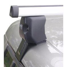 Diheng bagażnik dachowy na relingi dla Škoda Fabia II z zamkiem (ALU)
