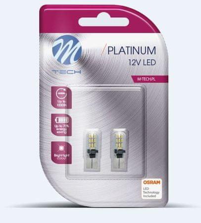 M-Tech žarnica LED W5W 12V 20x Osram Diode Canbus, bela