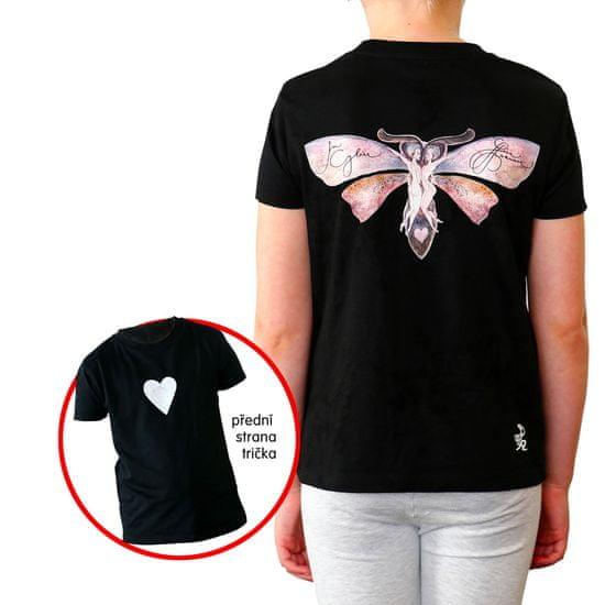 KlokArt dívčí tričko Mini Stella Draws 158 černá