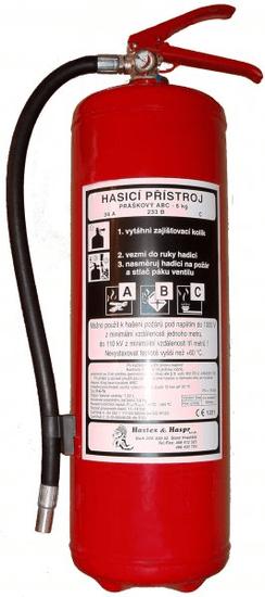 Hastex Práškový hasiaci prístroj 6 kg - P6Th