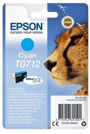 Epson kartuša T0712, cyan (C13T07124012)