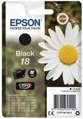 Epson tinta 18, črna (C13T18014012)