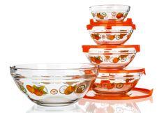 Banquet komplet steklenih posod Naranjas, 5 kosov