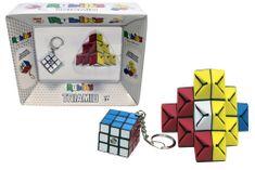 Rubik zastaw gier logicznych - układanka Tiramid + breloczek kostka Rubika