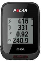 Polar kolesarski računalnik M460 z GPS-om, HR, črn