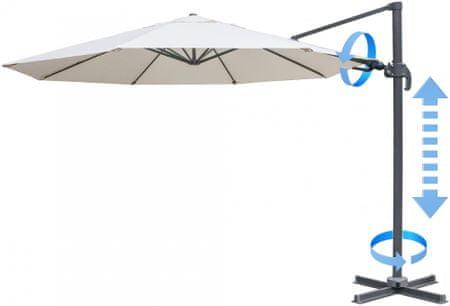 MAKERS parasol ogrodowy boczny Verona 3,5 m, beżowy