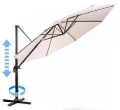 MAKERS parasol ogrodowy Roma, boczny 3,5 m, beżowy