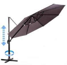 MAKERS parasol ogrodowy Roma, boczny 3,5 m, szary