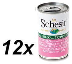 Schesir Konzerva Cat kuracie + šunka 12 x 140g