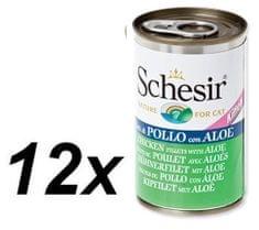 Schesir Konzerva Kitten kuracie + aloe 12 x 140g