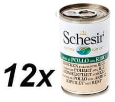 Schesir Konzerva Cat kuracie + ryža 12 x 140g