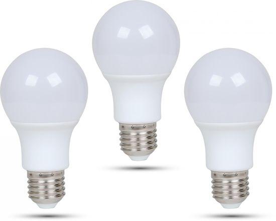 Retlux A60 E27 LED žiarovka 9W denná biela, 3 ks