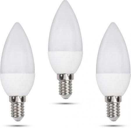 Retlux C35 E14 świeczka 6W dzienna biała, 3 szt