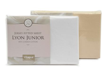 Vitapur bombažna napenjalna rjuha Lyon Junior 70x140 cm, bela