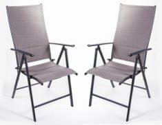 MAKERS SAN REMO 2 ks židle, tmavě šedá - zánovní