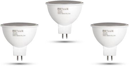 Retlux GU5.3 LED pontizzó 7W 12V meleg fehér, 3 db