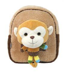 Street plišasti nahrbtnik z igračko, Brown Monk