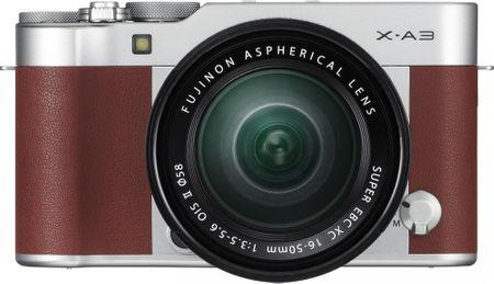 FujiFilm X-A3 + XC 16-50 brązowy