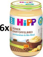 HiPP BIO Jemná bramborová kaše s mrkví a hovězím masem - 6 x 220g