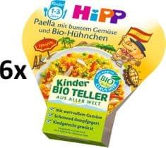 HiPP BIO Paella so zeleninou a kuracím mäsom - 6 x 250g