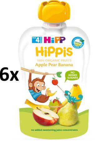 HiPP BIO 100% ovocie Jablko-Hruška-Banán 6 x 100 g