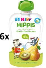 HiPP BIO 100% ovocie Hruška-Banán-Kiwi 6 x 100 g