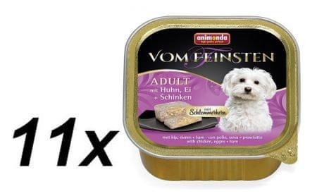 Animonda mokra karma dla psa V.Feinsten, kurczak, jajko i szynka 11 x 150g