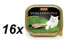Animonda V.Feinsten CORE hovädzie, losos filet + špenát pre mačky 16 x 100g