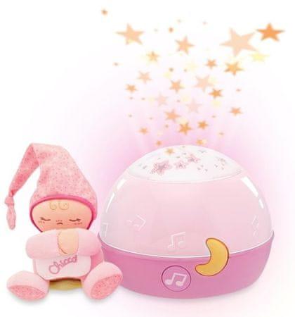 Chicco Zenélő csillagok vetítő, Rózsaszín